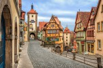 Ротенбург. Красивый город в северной части Баварии окружён крепостной стеной. Узкие средневековые улочки создают эффект остановившегося времени.