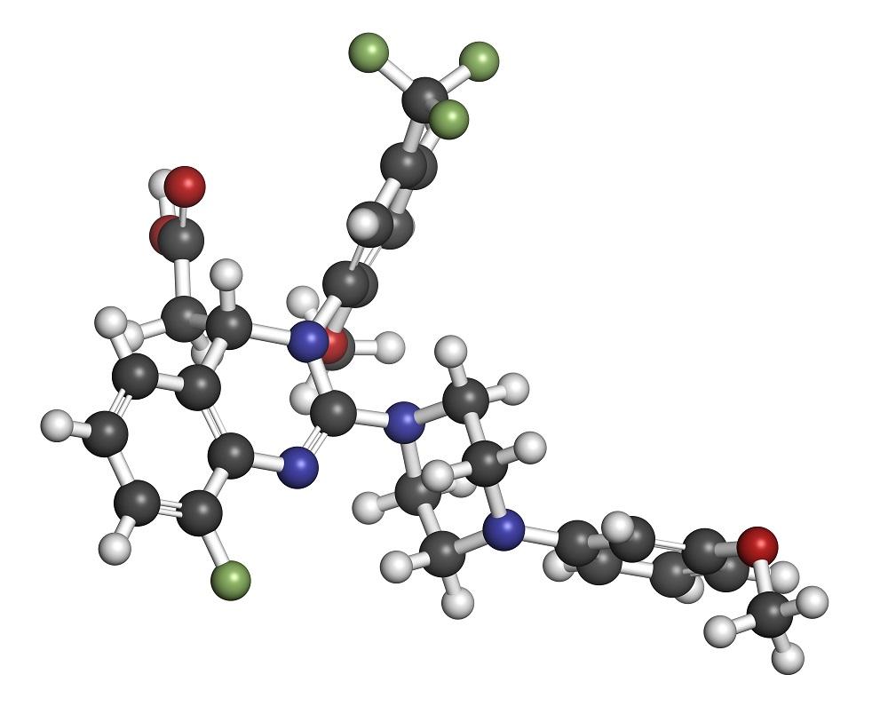 Letermovir cytomegalovirus (CMV) drug molecule
