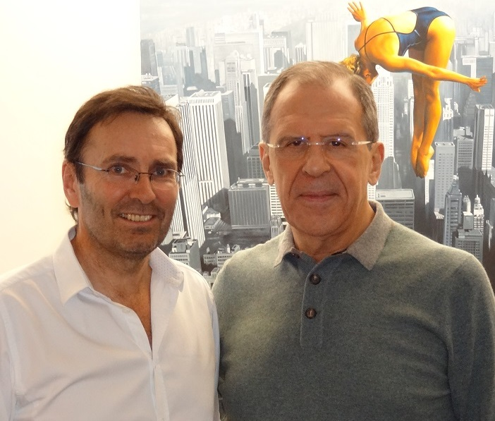 Dr. Rembeck und Außenminister Russlands Sergei Lavrov
