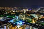 Университетская клиника Цюриха и исследовательские учреждения, вид ночью