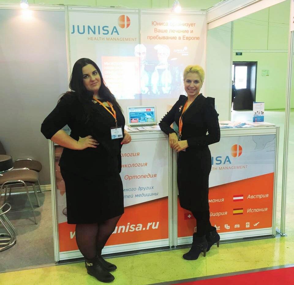Leiterin der Abteilung Qualitätsmanagement Natalia Novozhilov und Marketing-Direktorin Tatjana Fomitschova